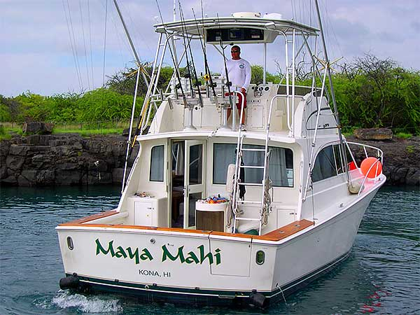 Kona Fishing on the Maya Mahi